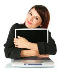 Teacher Embrace Computer